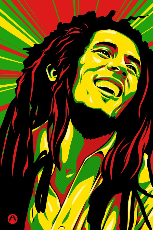 Reggae clipart bob marley Pinterest Marley Behance by Aquino