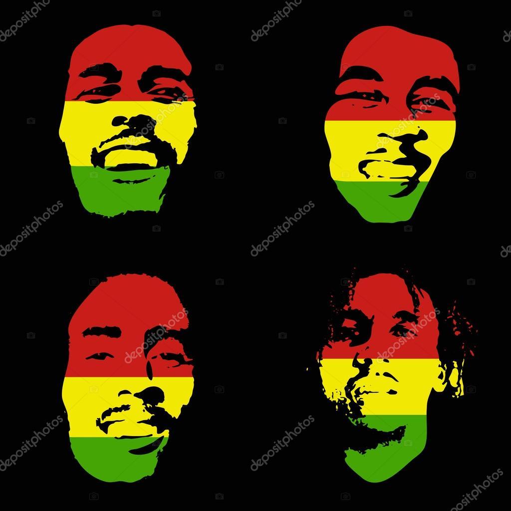 Reggae clipart bob marley Singer Marley Marley — Graffiti