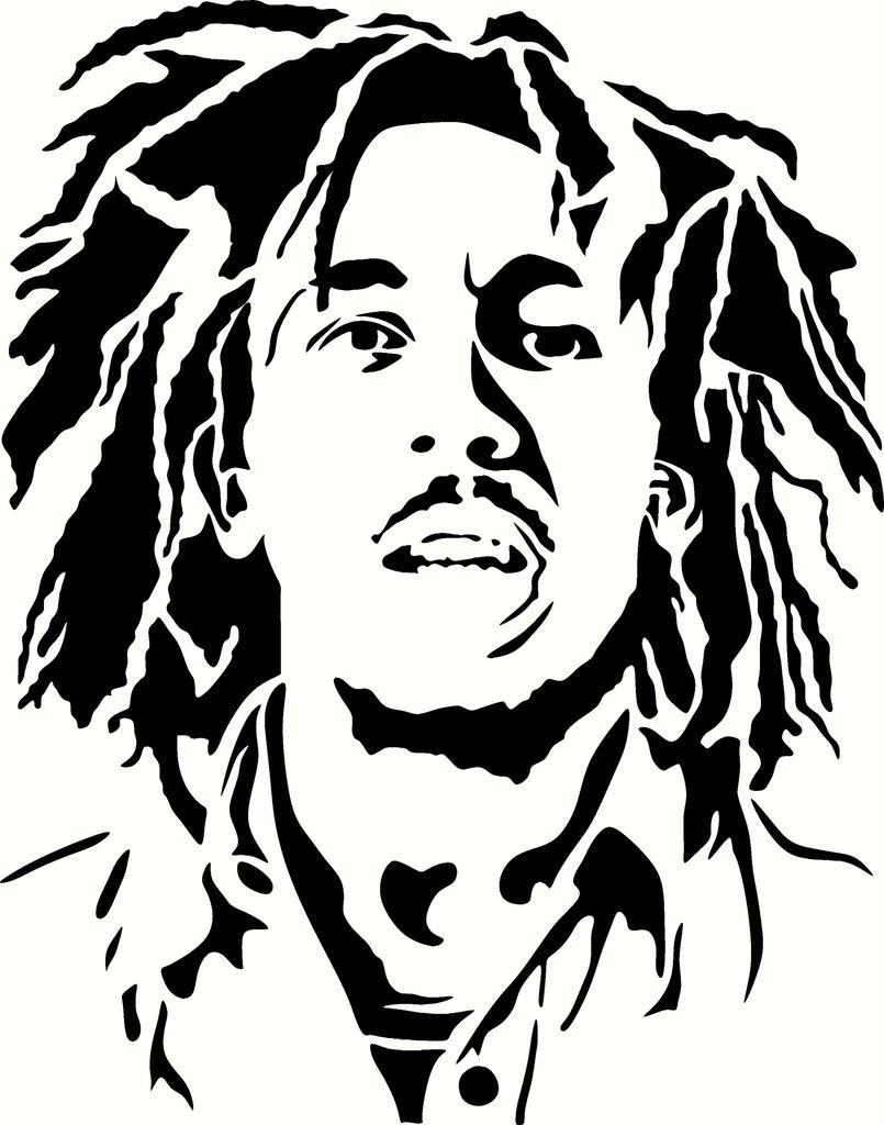 Reggae clipart bob marley Vinyl Bob Choose Marley Decal