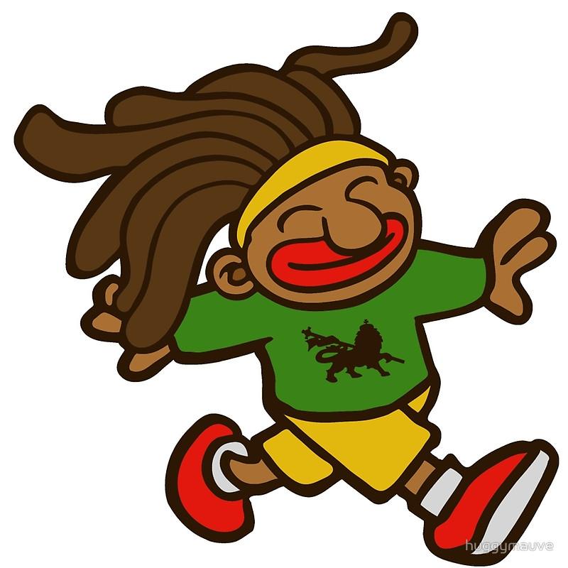 Reggae clipart cartoon Afro rasta Redbubble reggae rasta