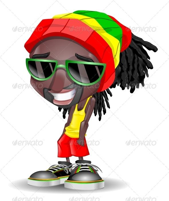 Reggae clipart cartoon Salute characters Let's 2579346