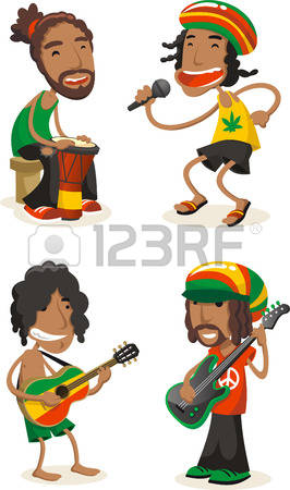 Reggae clipart cartoon Collection clipart Clipart Reggae musicians