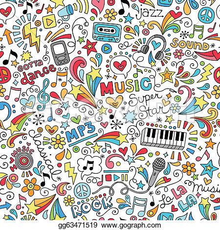 Reggae clipart doodle Pattern  Free Royalty Kid