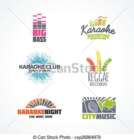 Reggae clipart logo Karaoke of  of music
