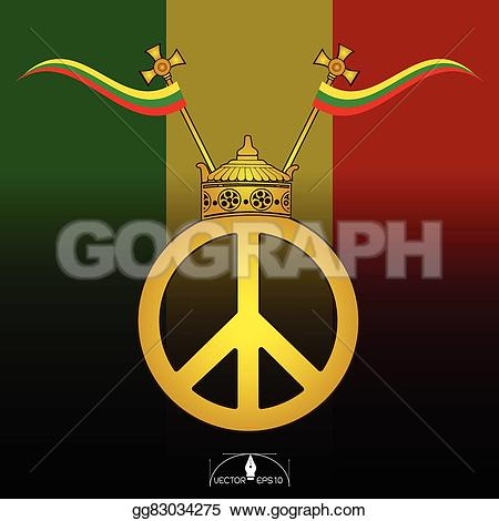 Reggae clipart logo peace Poster  Crown with Art