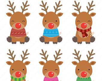 Reindeer clipart Christmas / Christmas Reindeer clipart
