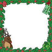 Reindeer clipart border #6