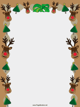 Reindeer clipart border #7