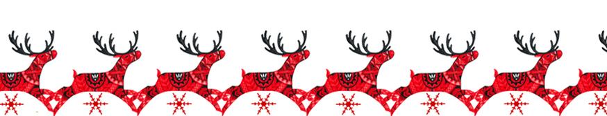 Reindeer clipart border #5