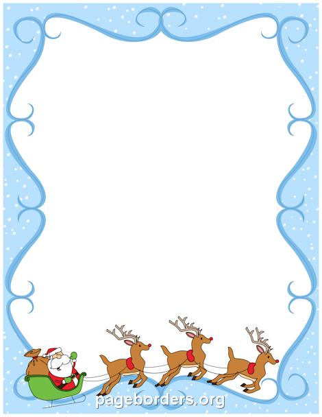Reindeer clipart border #8