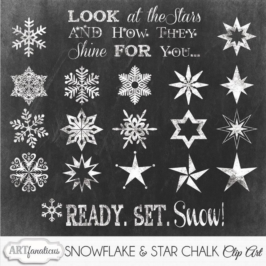 Drawn stars chalk Cliparts Art