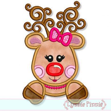 Reindeer clipart girly INSTANT 7x11 Download Christmas REINDEER