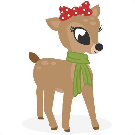 Reindeer clipart girly Best on GIRL REINDEER ANIMALES