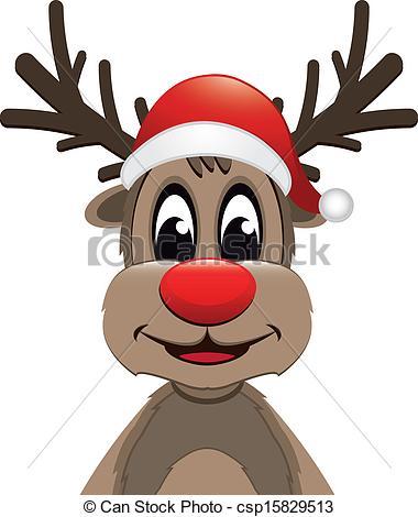 Santa Hat clipart reindeer head #7