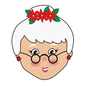 Santa clipart mrs claus #8