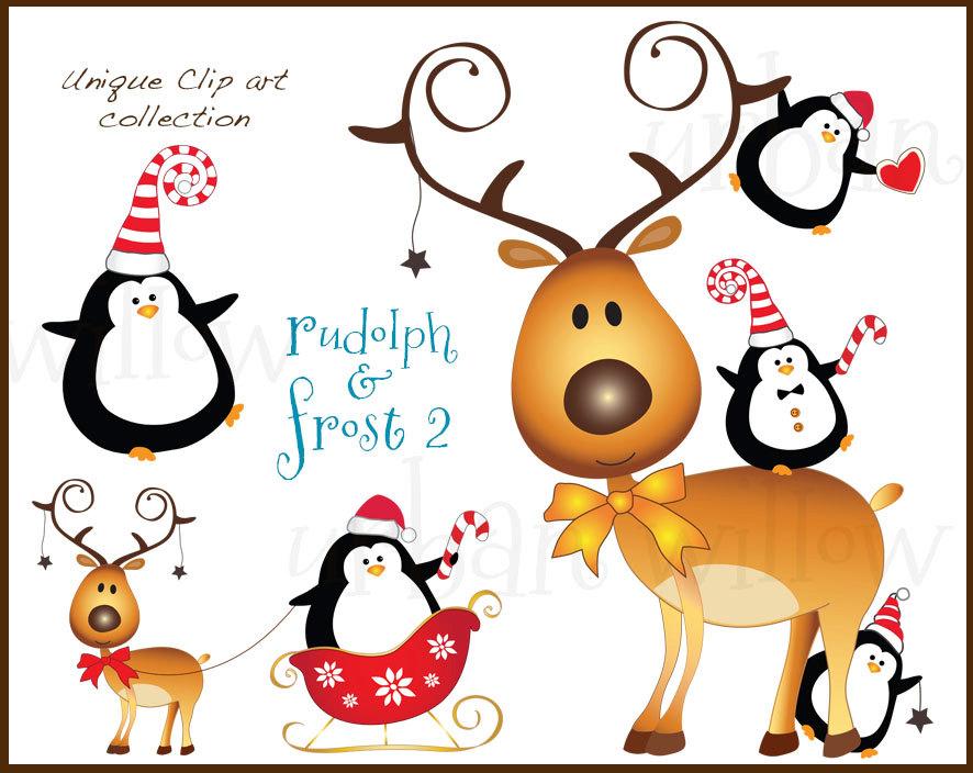 Penguin clipart reindeer Clipart  Clipart Penguin Reindeer