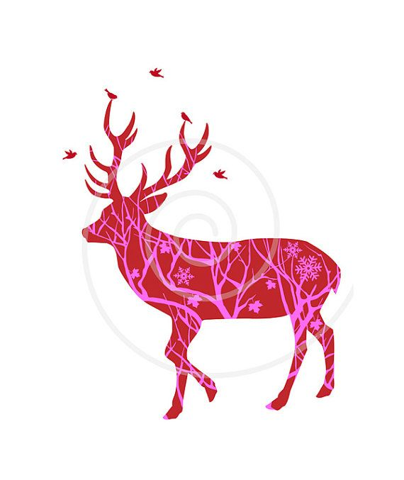 Drawn reindeer xma Deer overlay PNG scrapbooking best