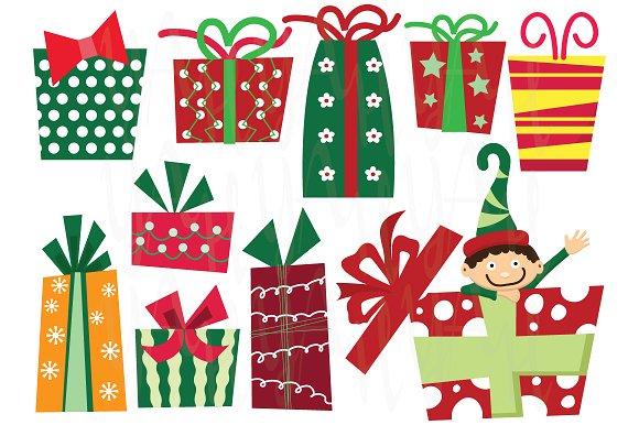 Reindeer clipart presents Christmas Presents Creative Christmas Art