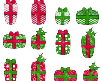 Reindeer clipart presents Christmas Art art Presents Clip