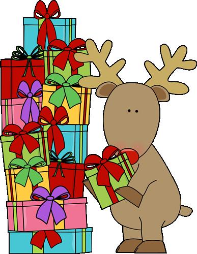 Reindeer clipart presents Christmas Guide Gift 2015 Rambling