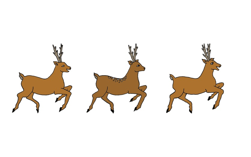 Reindeer clipart reindeer flying #3