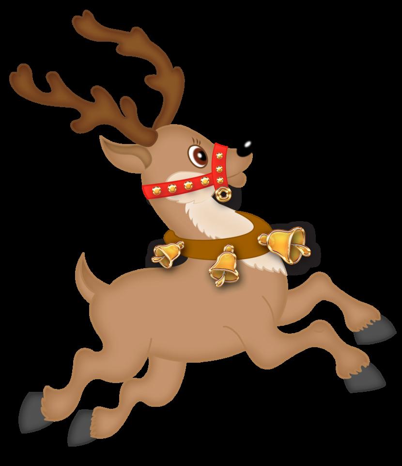 Reindeer clipart reindeer flying #1