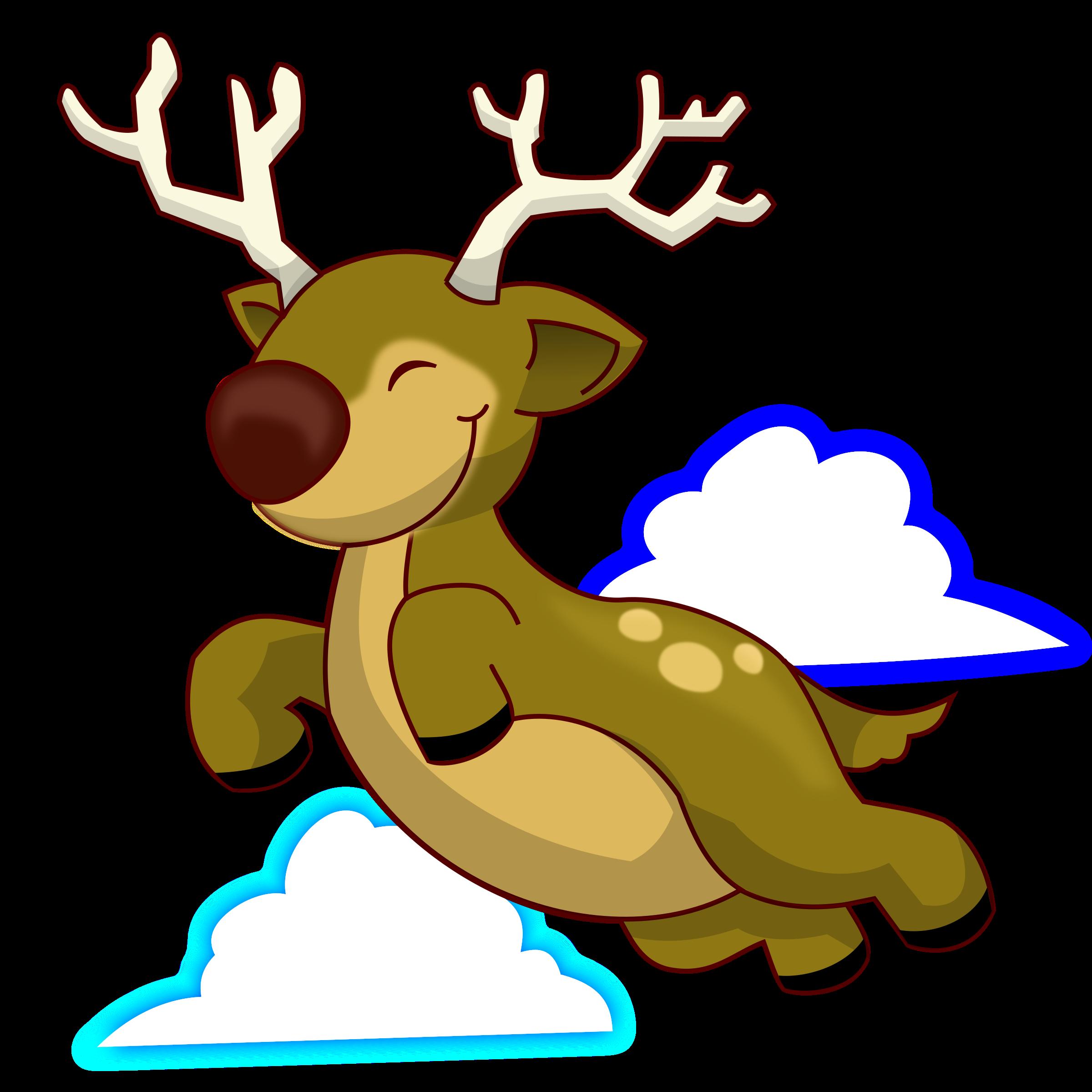 Reindeer clipart reindeer flying #5
