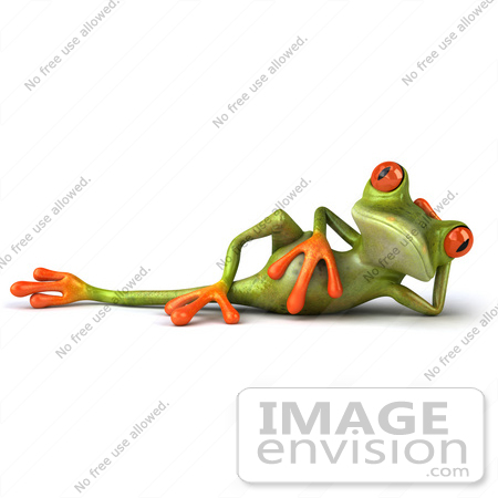 Red Eyed Tree Frog clipart line art #3
