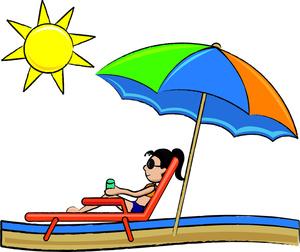Relax clipart sun bathing #4