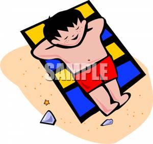 Relax clipart sun bathing #5