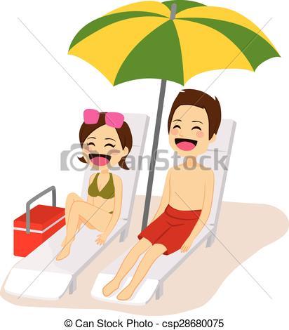 Relax clipart sun bathing #8