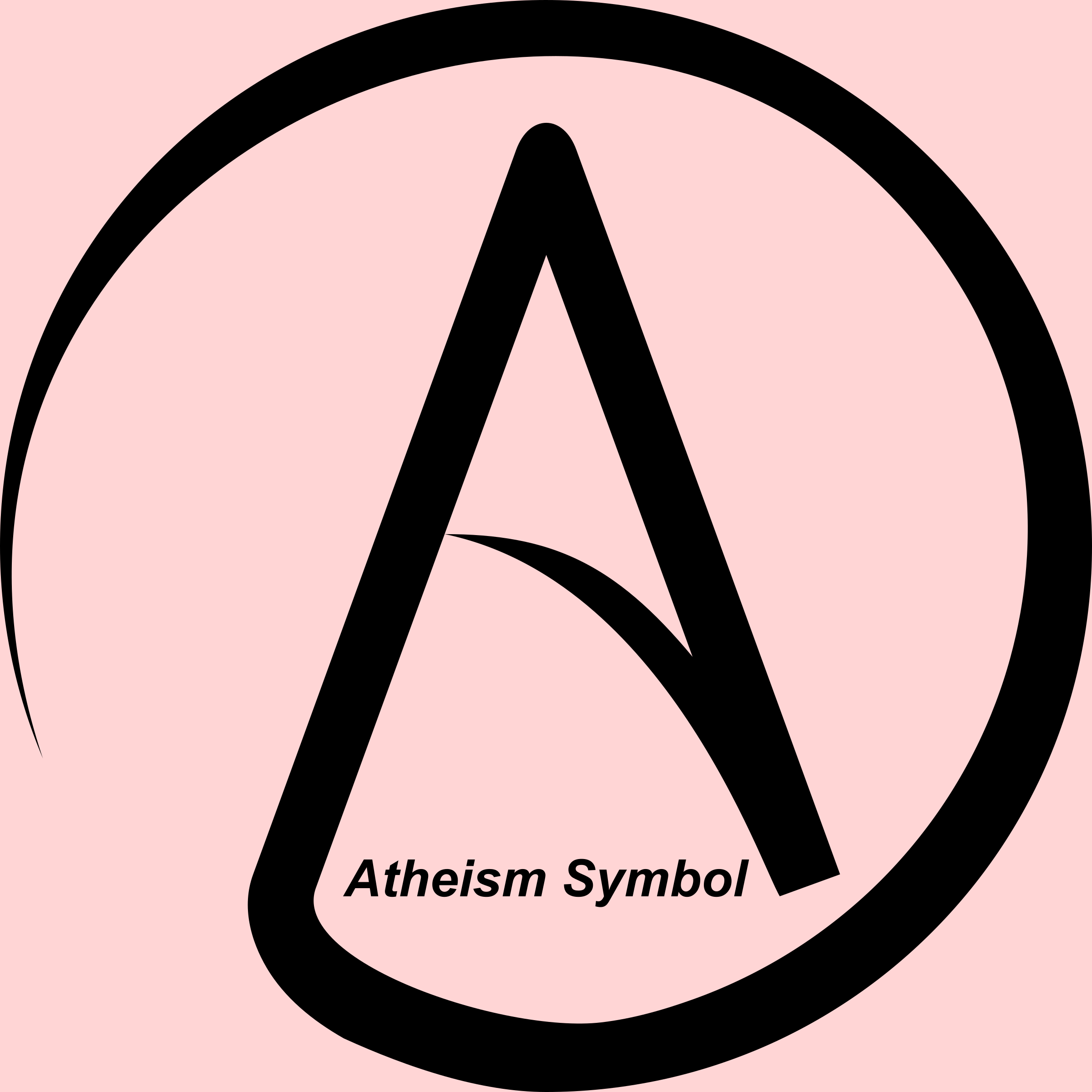 Religion clipart atheist (A (A in in Circle)