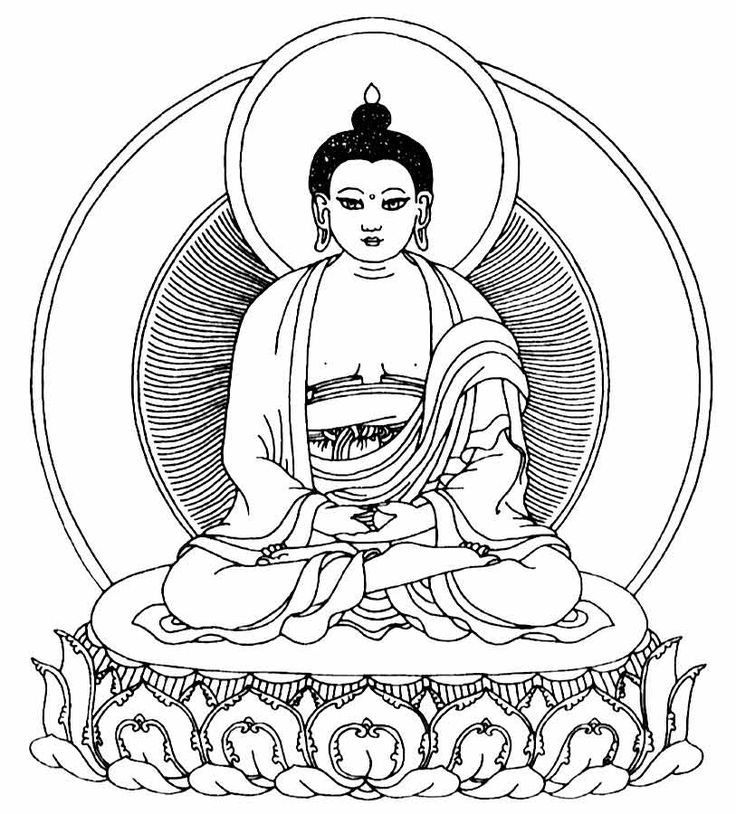 Religion clipart buddhism Stencil for Printable Buddhism and