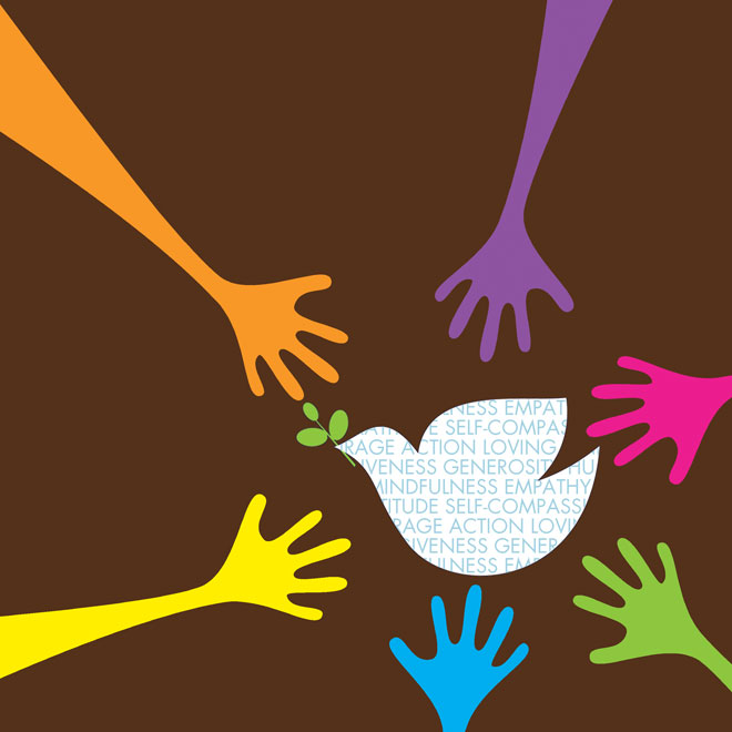 Religion clipart compassion Dove and World with the
