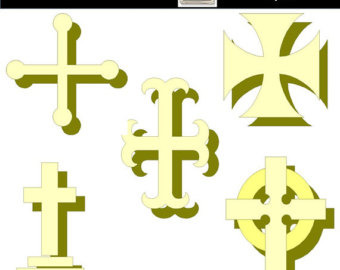 Calligraphy clipart decorative cross Easter Easter Art Decorative Clip