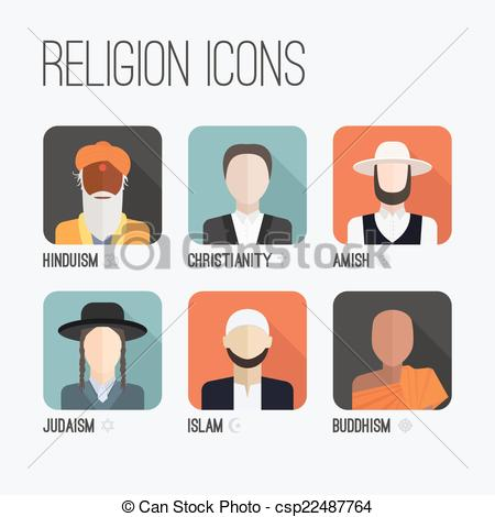 Religion clipart different religion Different A of people vector