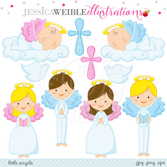 Cards clipart angel Invitations Angels Clipart Invitations Etsy