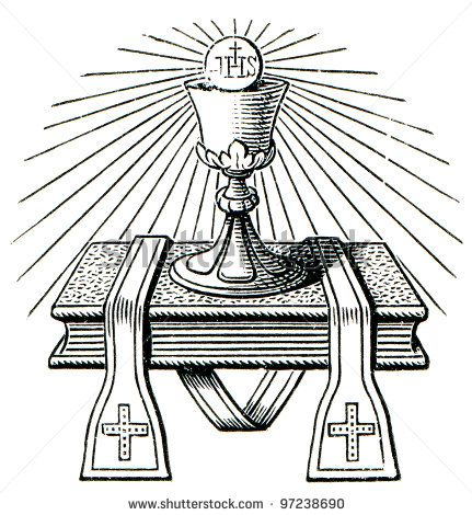 Altar clipart black and white Catholic Religious Clip Free 10
