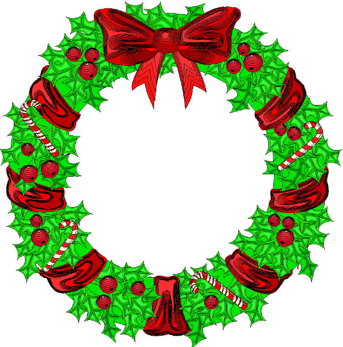 Wreath clipart tree Borders  Free Christmas Merry