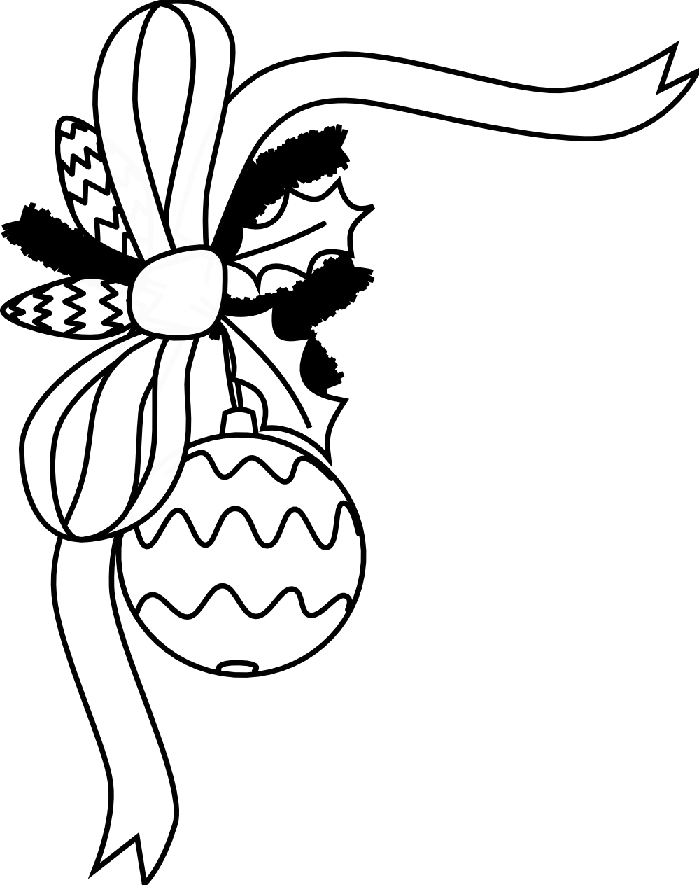Decoration clipart black and white And Black  Clipart White