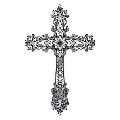 Drawn cross  Art Page clipart 13