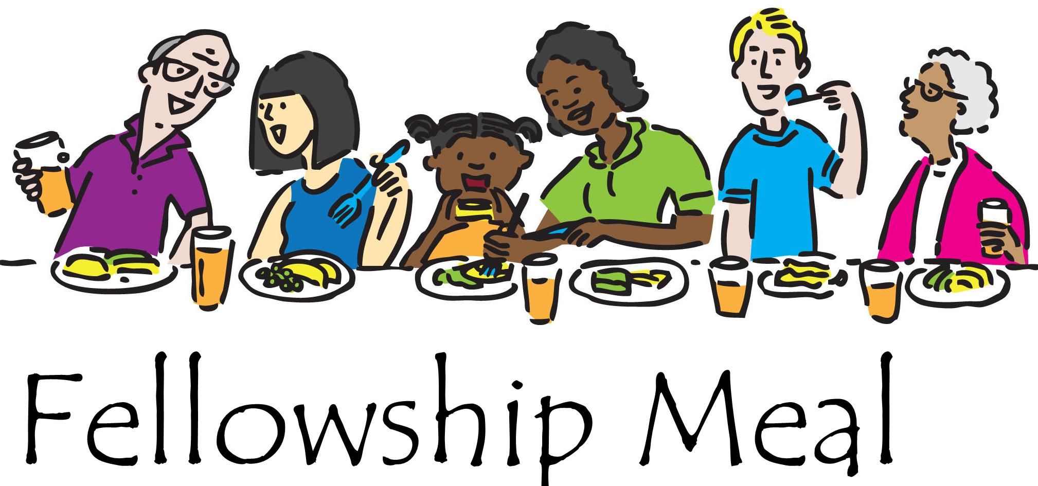 Religious clipart family dinner Fellowship Fellowship Clipart Food And