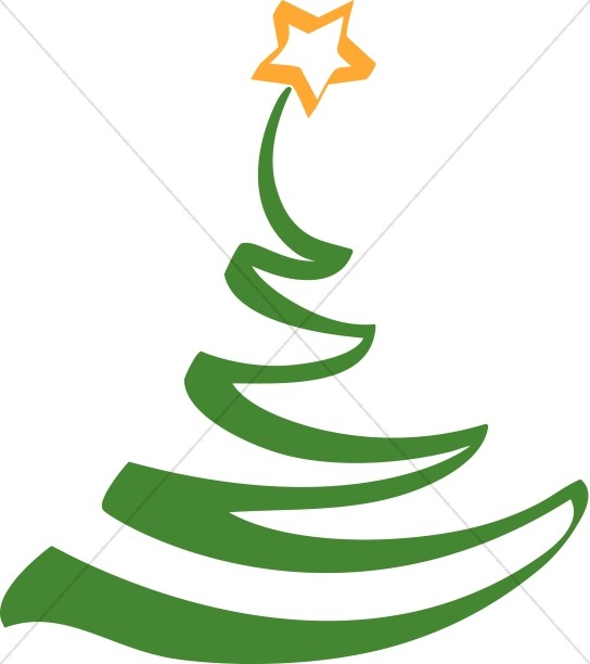 Christmas Tree clipart simple  Clipart Artistic Christmas Clipart