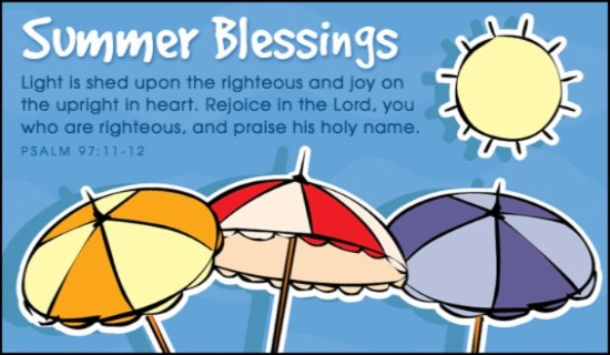Holydays clipart blessed Cards Summer Blessings  Online
