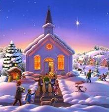 Winter clipart church scene Free the evening Church in