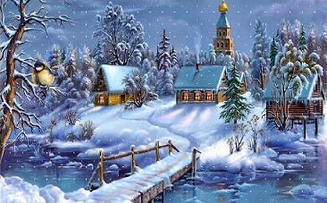 Winter clipart church scene Church Clipart Winter Free landscape