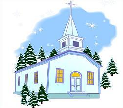 Winter clipart church scene Church the winter in Winter