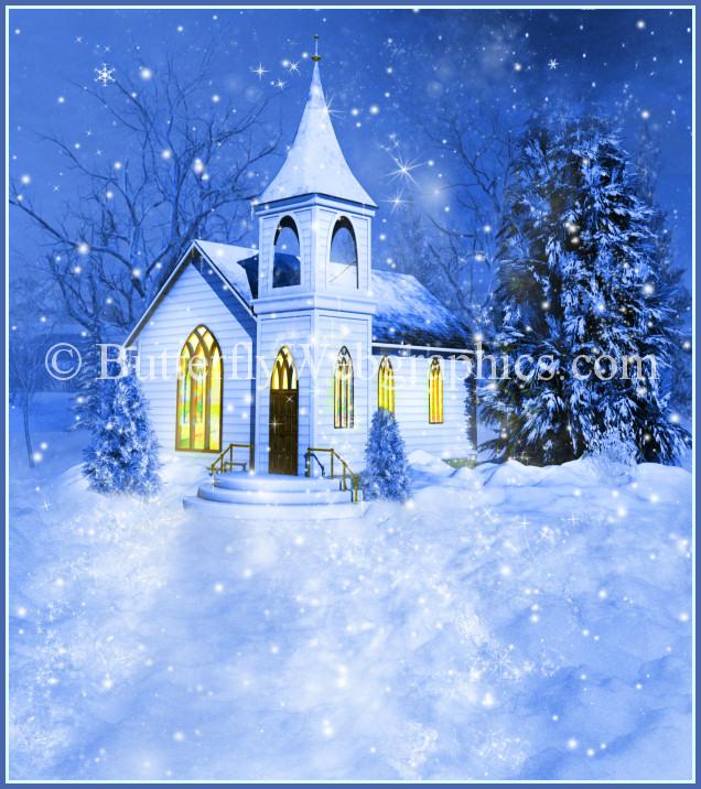 Winter clipart church scene Winter Free Religious China Clipart
