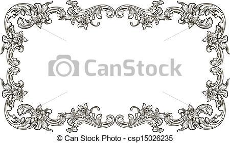 Renaissance clipart frame #3