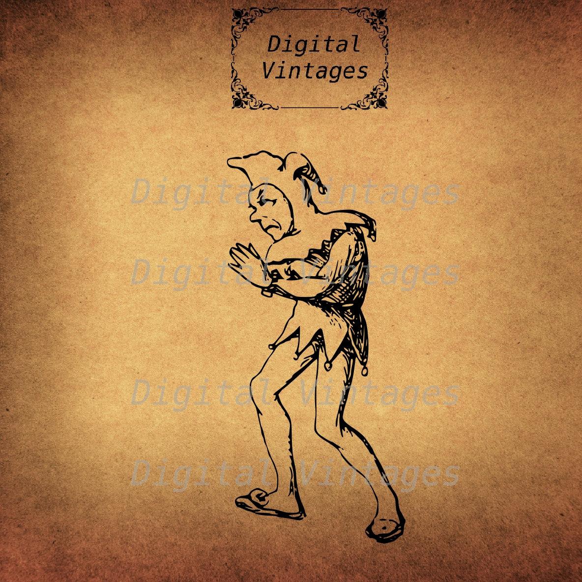 Renaissance clipart jester Cartoon Comic illustration Renaissance digital